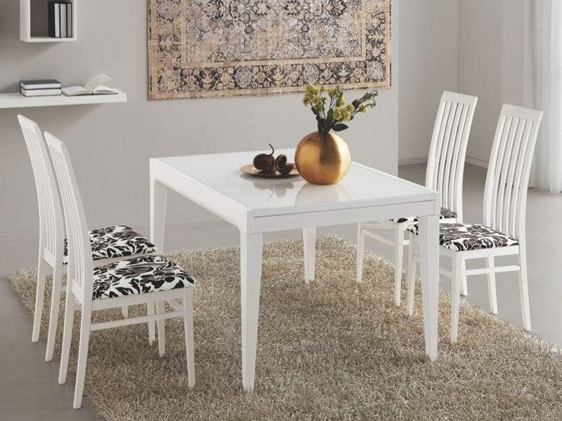 702 3v tavolo legno con piano in vetro 70x110 cm for Tavolo calligaris 70x110