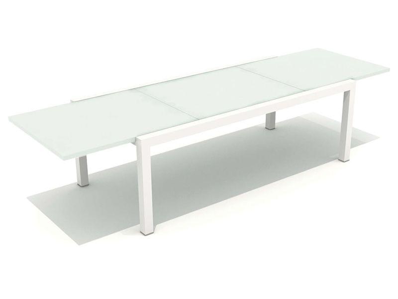 Touch t tavolo in alluminio disponibile in diverse misure for Tavolo per esterno allungabile