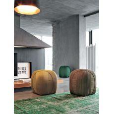 7338 Gomitolo | Pouf design artigianale di Tonin Casa, diversi colori