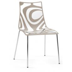 SC2266 WAVE | Design metal chair, technopolymer seat in several colours, stackable