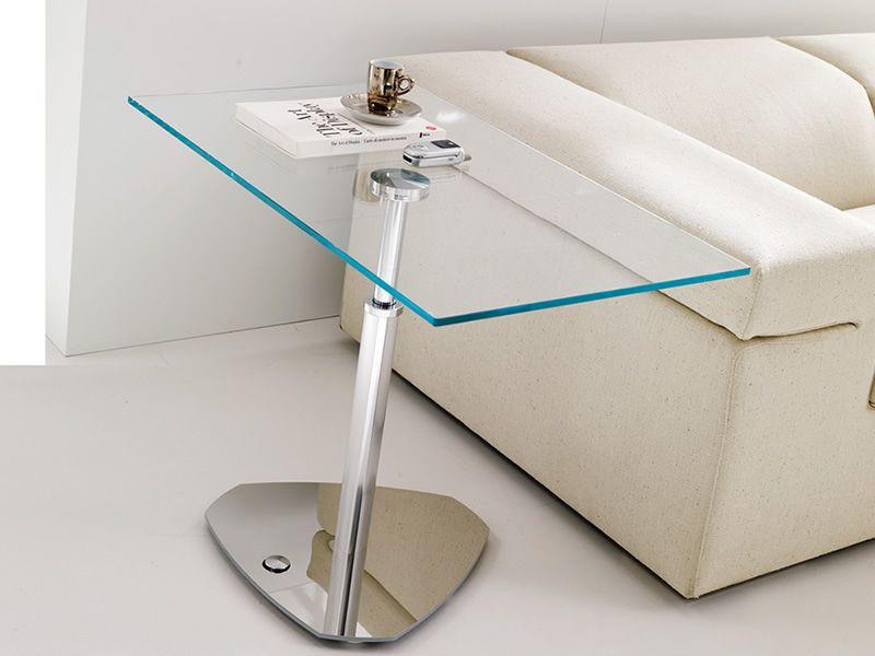 Move table basse en m tal avec hauteur r glable plateau - Table reglable en hauteur avec rallonge ...