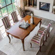 1129 Aston | Tavolo classico in legno di Tonin Casa, diversi colori, 100x180 cm allungabile