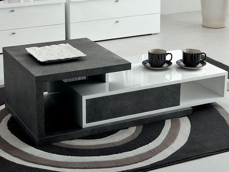 drehebarer couchtisch mit schublade in verschiedene farben. Black Bedroom Furniture Sets. Home Design Ideas