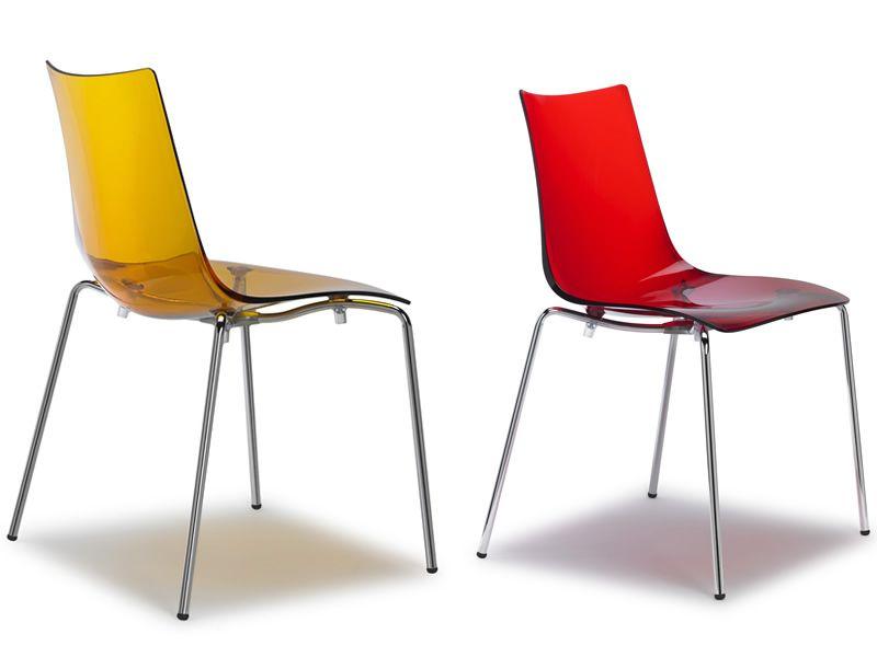 Sc2273 zebra silla de metal y polycarbonate varios for Sillas rojas cocina