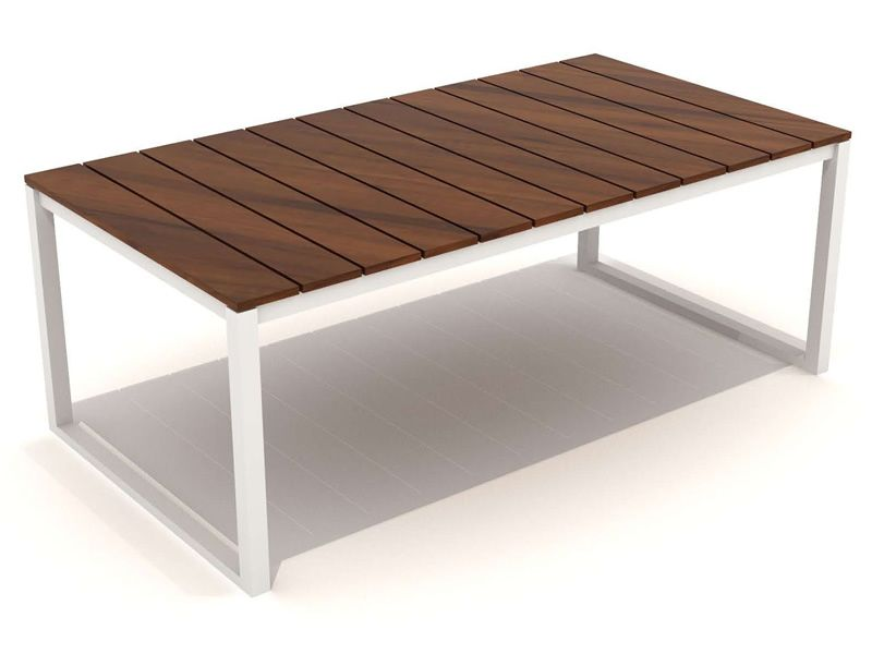 Garden table in aluminium and teak 200x100 cm kirk t for Table 200x100
