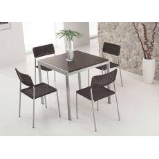 742 | 3 | Tavolo in metallo, 80x80, allungabile