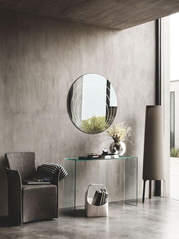 cs5074 lune specchio moderno calligaris tondo sediarreda