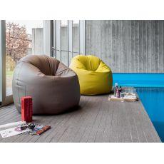 7303 Asola | Pouf - poltrona in ecopelle di Tonin Casa, diversi colori disponibili