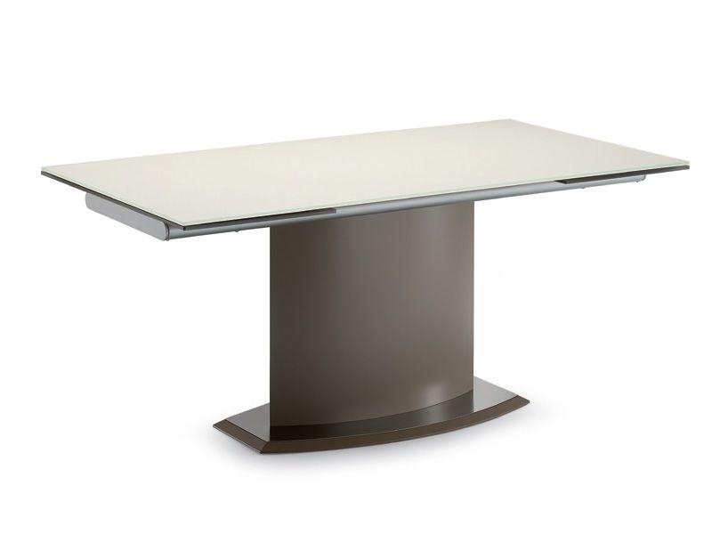 tisch domitalia aus metall glasplatte 160x90 cm. Black Bedroom Furniture Sets. Home Design Ideas