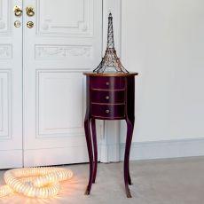4256 Kao | Tavolino portaoggetti in legno di Tonin Casa, diversi colori e decori disponibili