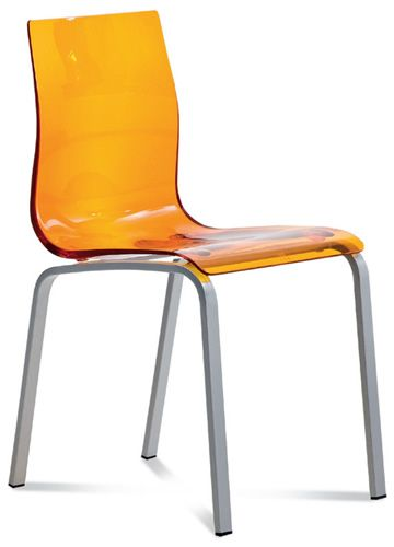Gel r silla domitalia de metal y metacrilato sediarreda for Sillas metacrilato