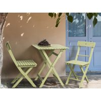 Martignano Set | Garden set in wood: 2 folding chairs +1 folding table 58x58 cm