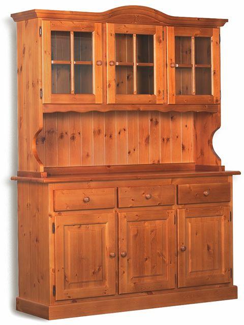 Lar18 credenza rustica a tre ante in pino diversi colori disponibili sediarreda - Mobili in legno di pino ...