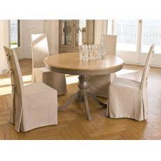 4327 Arago | Tavolo classico tondo in legno di Tonin Casa, diversi colori, allungabile