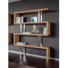 7246 Trafalgar | Libreria in legno di Tonin Casa, diverse finiture disponibili