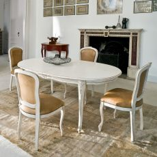 1127 Dorado | Tavolo classico in legno di Tonin Casa, diversi colori, 110x180 cm allungabile