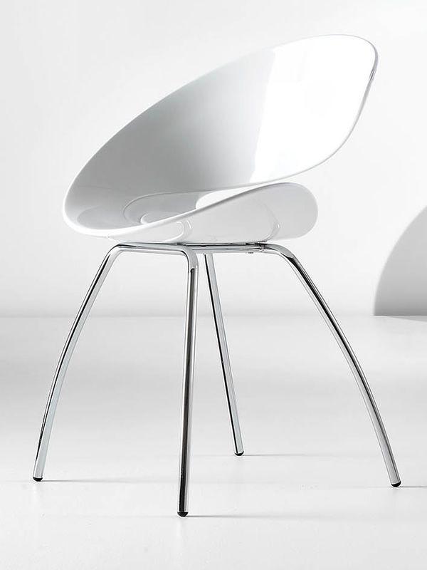 Twist h midj design stuhl aus hirek und metall auch for Design stuhl metall