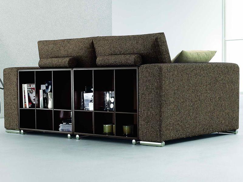 Boston divano a 2 3 o 3 posti xl sfoderabile in tessuto - Divano con libreria ...