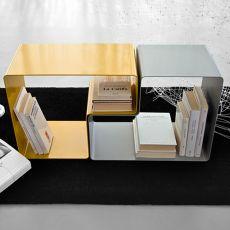 Form | Tavolino e portariviste modulare in metallo, disponibile in diversi colori