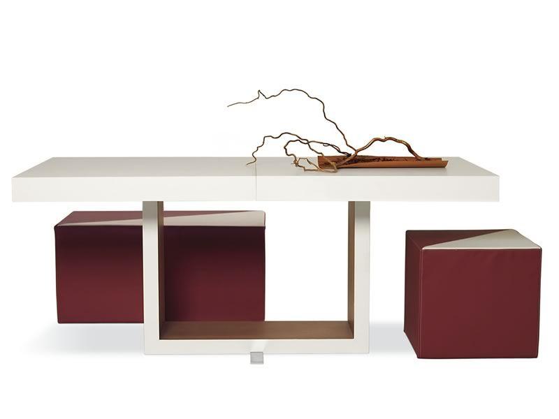 Mobili lavelli tavolo moderno legno bianco for Gambe tavolo legno leroy merlin