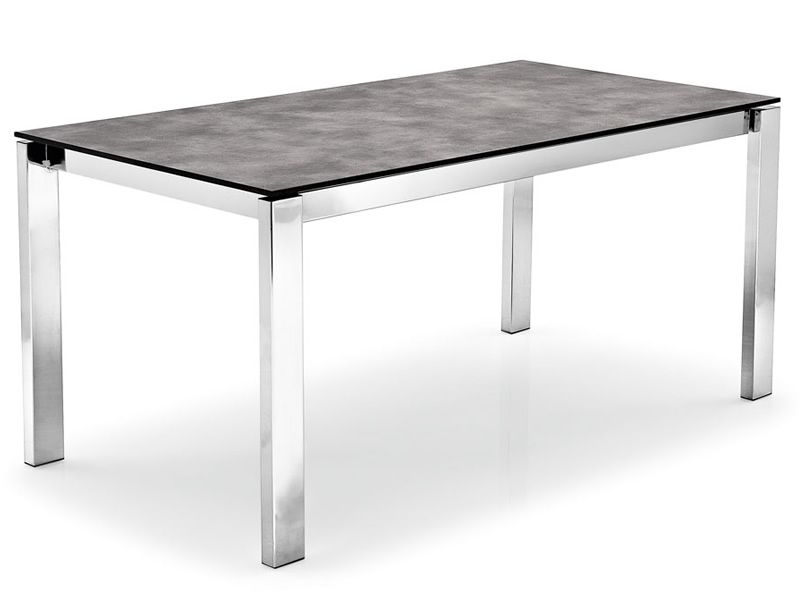 Cs4010 ml 110 baron tavolo calligaris in metallo piano for Tavolo cemento calligaris
