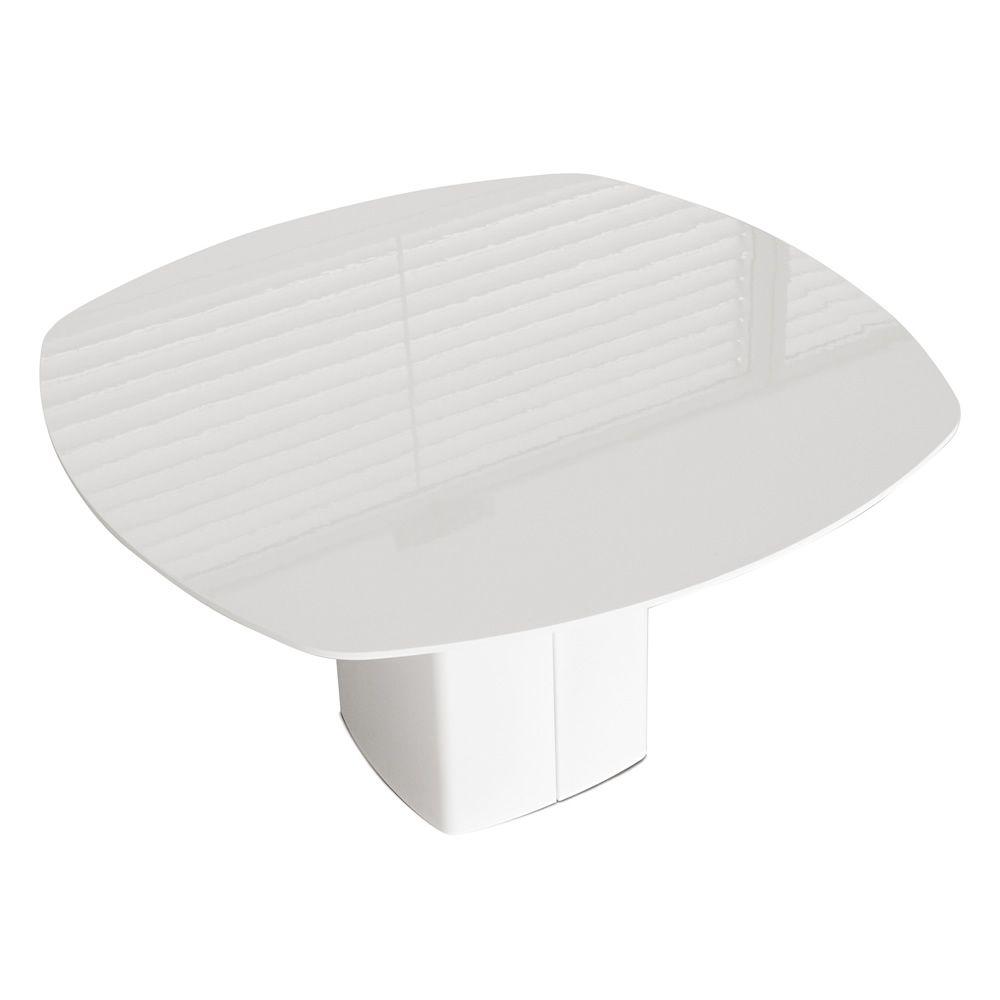 design tisch pedrali aus metall platte aus laminat oder glas 130x130 cm feststehend aeroq. Black Bedroom Furniture Sets. Home Design Ideas