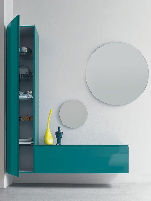 logika 1 meuble entr e avec deux miroirs en diff rentes couleurs sediarreda. Black Bedroom Furniture Sets. Home Design Ideas