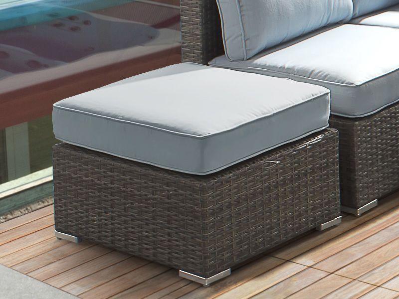lambro set set pour jardin en rotang synth tique canap modulaire pouf table basse 65x65cm. Black Bedroom Furniture Sets. Home Design Ideas