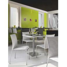 716 Q | Tavolo in metallo, piano quadrato in diverse misure