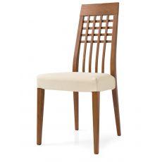 CS235 Manhattan | Sedia Calligaris in legno con seduta rivestita in stoffa, sfoderabile