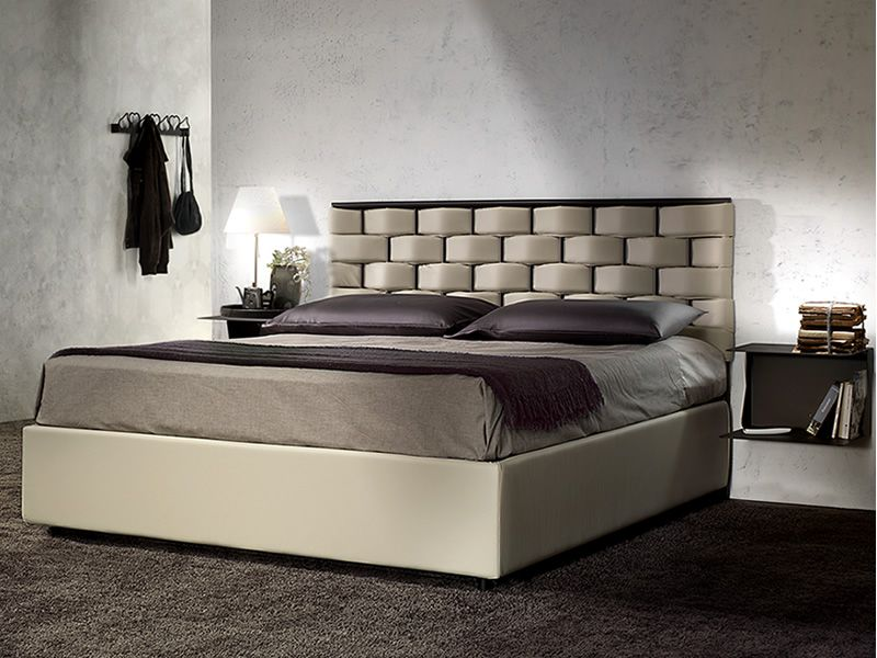 Intreccio i letto matrimoniale in ferro testata in ferro ed ecopelle sediarreda - Imbottitura testata letto ...