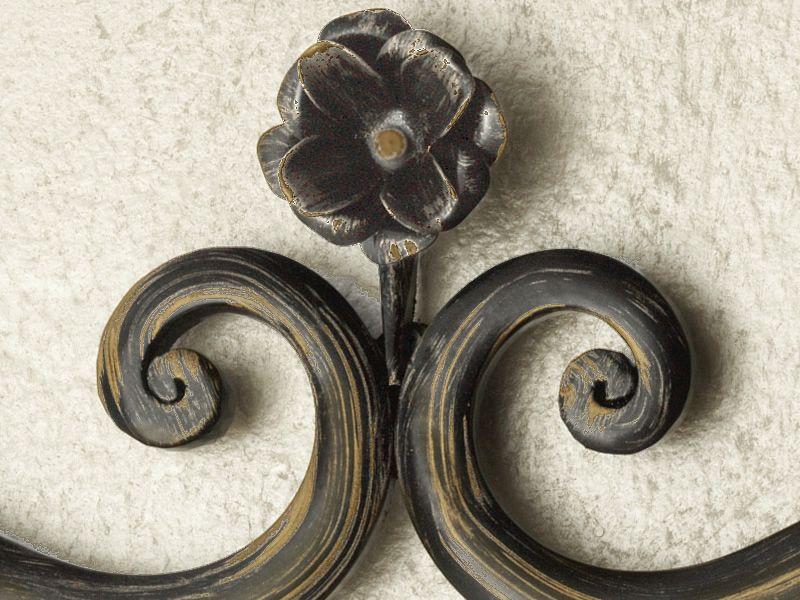 Rosa s specchio rettangolare in ferro disponibile in for Specchio in ferro battuto