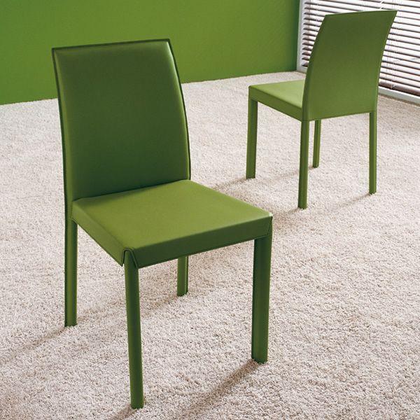 Md029 silla moderna tapizada en piel en varios colores Sillas tapizadas colores