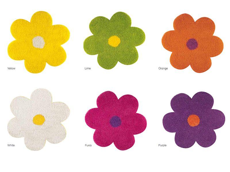 Teppich in Blütenform, verschiedene Farben verfügbar