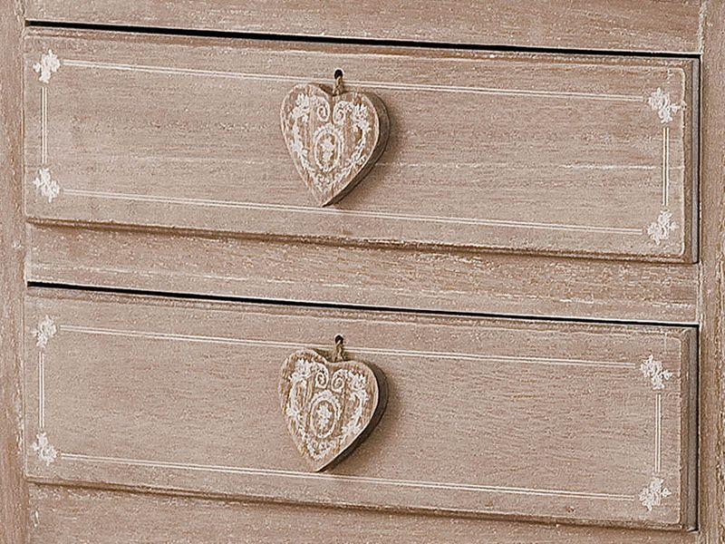 linosa console shabby chic en bois avec tiroirs sediarreda. Black Bedroom Furniture Sets. Home Design Ideas