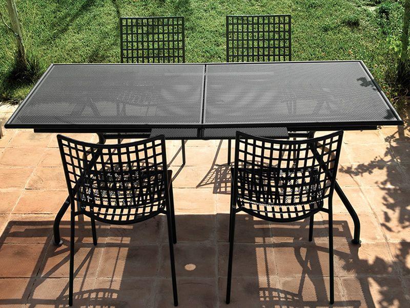 Piano tavolo emu in metallo piano 160x90 cm o 200x100 cm for Tavolo per veranda