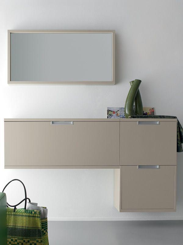 Xl1 meuble entr e suspendu avec porte chaussures diff rentes couleurs sed - Meuble entree suspendu ...