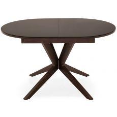 706 | Tavolo in legno con piano in vetro 130x90 cm, allungabile, in diversi colori