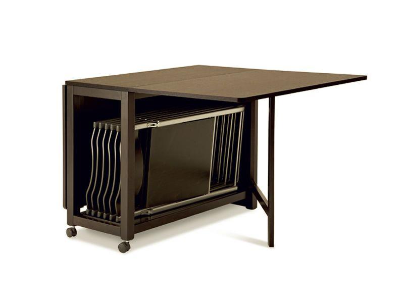 Icon t tavolo domitalia in legno 95x40 cm pieghevole e for Tavolo allungabile con sedie a scomparsa