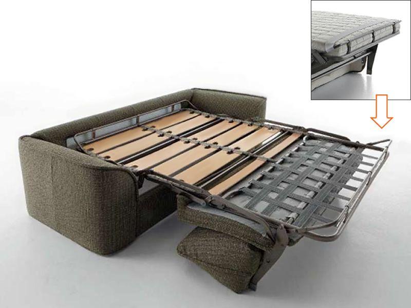 Marche divano letto a 2 3 o 3 posti xl rivestimento in tessuto od ecopelle sfoderabile - Divano letto doghe in legno ...