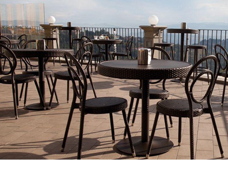 Charleston t per bar e ristoranti tavolo bar in metallo - Sedie in rattan per esterni ...