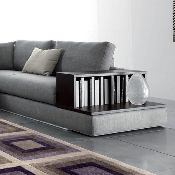 Atlantic super divano moderno angolare con libreria e - Divano angolare con libreria ...