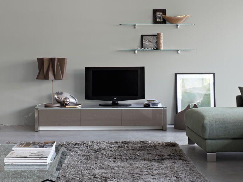 Cs6029 3r mag meuble porte tv calligaris en bois et en for Meuble calligaris