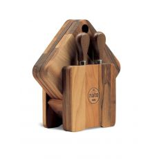Cocule | Wooden cutting board with knives for cheese tasting