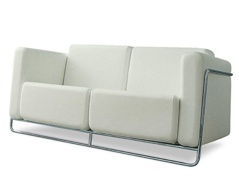 Sof design de acero y piel tela o ecopiel en varios for Catalogo de sofas de piel