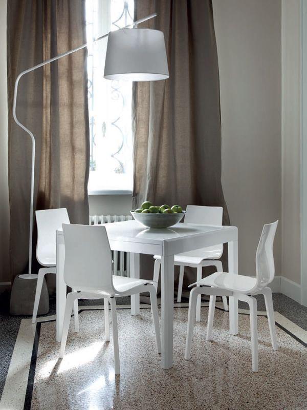 Gel l sedia domitalia in legno e metacrilato sediarreda for Sedie moderne bianche