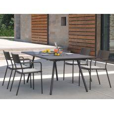 Bridge T | Tavolo Emu in metallo, disponibile in diverse misure e colori, anche allungabile, per giardino