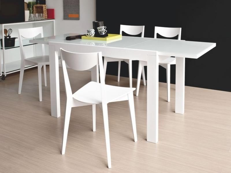 704 2v tavolo legno con piano in vetro 110x70 cm for Tavolo calligaris 70x110