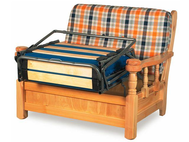 Tirolo poltrona poltrona rustica in legno con cuscini di diversi tessuti sediarreda - Richiesta letto ortopedico asl ...