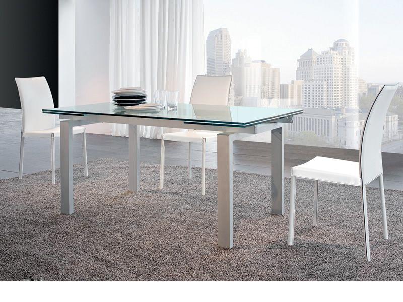 7299 plaza sedia tonin casa con schienale alto in cuoio for Sedie bianche design